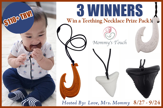 Have a little one that is teething like crazy? Learn more about these comforting silicone necklaces for teething babies and enter to win the giveaway.