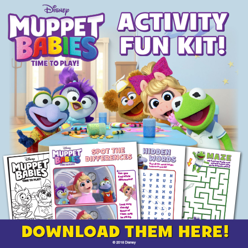 Muppet Babies Coloring Activity Sheets