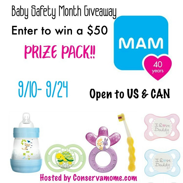 MAM is celebrating National Baby Safety Month with a special $50 MAM prize pack giveaway! Check out all the great tips to keep your little one safe.