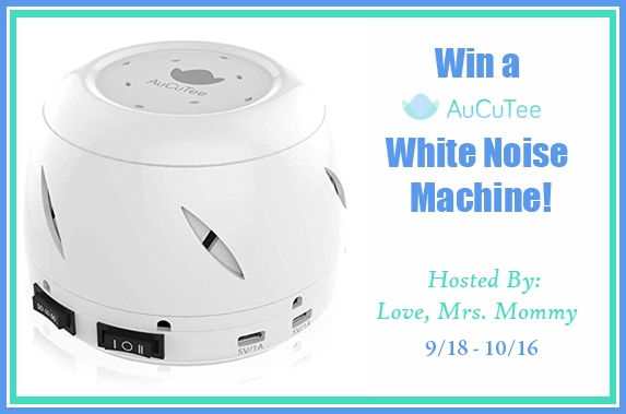 Do you have trouble sleeping at night? The benefits of a white noise machine are incredible. Enter to win the AuCuTee White Noise Machine giveaway!