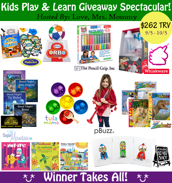 Got a little one in the house? Check out all these amazing items that a mom needs to make life fun in the Kids Play & Learn Prize Pack Giveaway!