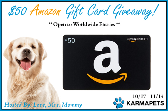 Does you got get anxious? Wish you had an easy way to keep your pup calm? Learn more about KarmaPets and enter to win the $50 Amazon Gift Card Giveaway!