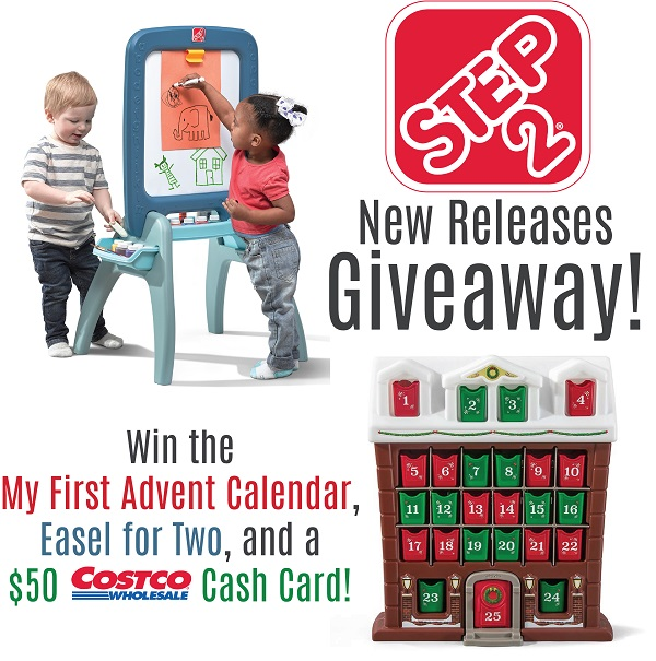 Step2 is celebrating the release of two new items just in time for the holidays! Enter to win the $50 Costco Cash Card & Step2 Prize Pack Giveaway.