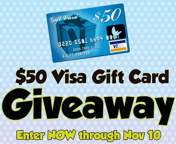 Wouldn't it be nice to get a head start on your holiday shopping? Now is your chance when you enter to win the $50 Visa Gift Card Giveaway!