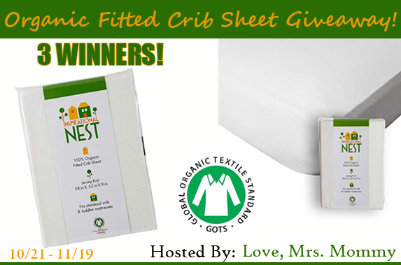 Inspirational NEST is the leader in crib sheets with natural products that are affordable. Enter the Inspirational NEST Organic Fitted Crib Sheet giveaway!