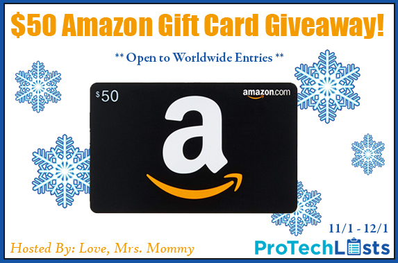 Shopping for new gadgets, gizmos and tech this holiday season? Learn more about ProTechLists reviews and enter to win the $50 Amazon Gift Card giveaway!