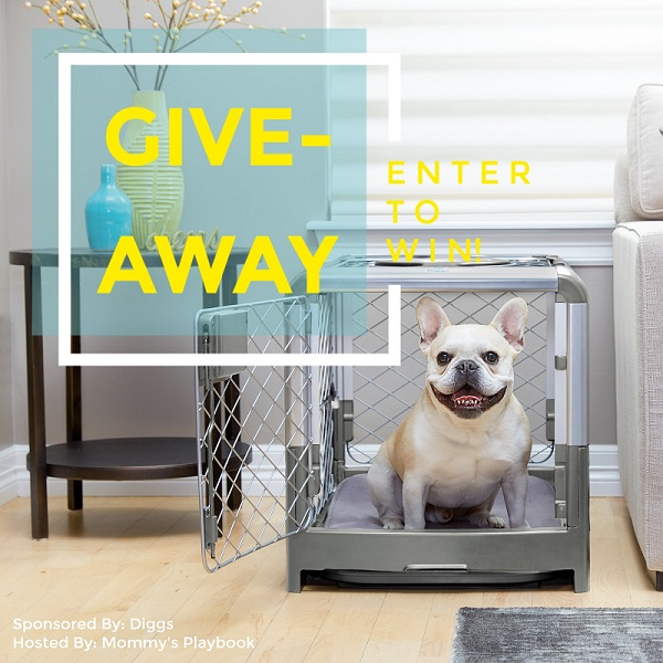 Welcome the Diggs Modern Revol Dog Crate! Practical, stylish and it can travel with you. Enter for your chance to win the Dog Crate giveaway for your pup.
