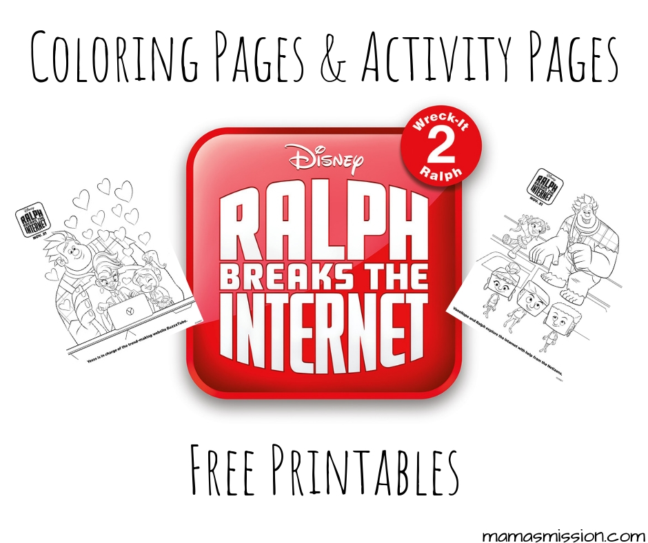 Ralph Breaks The Internet Coloring Pages Free Printables