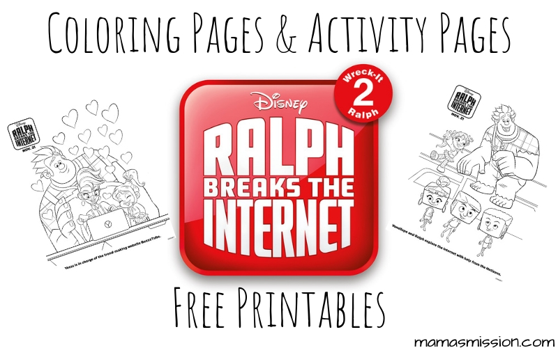 Ralph is back and ready to break the internet. Celebrate Wreck-It Ralph 2 and print these free printable Ralph Breaks The Internet coloring pages.
