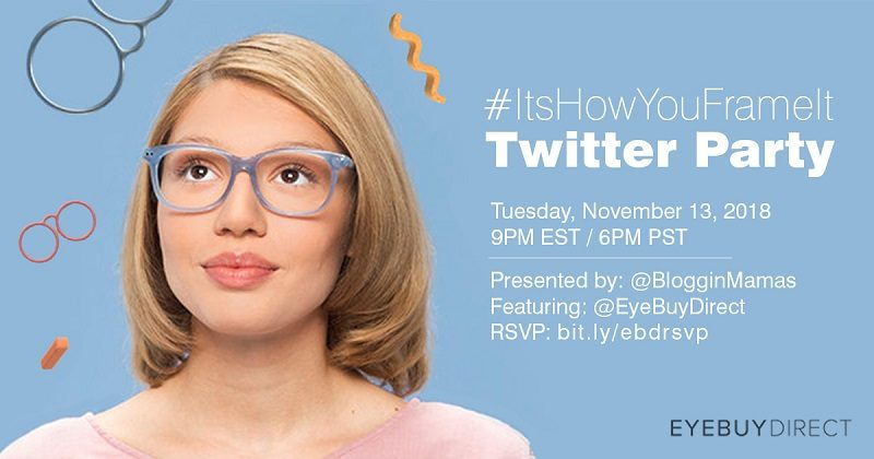 Join the #ItsHowYouFrameIt Twitter Party to learn about the stylish frames giving you clearer outlook on life on 11/13 at 9pm EST. Must RSVP to win prizes!