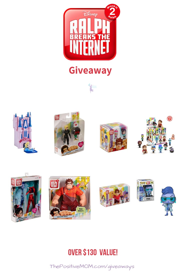 To celebrate the theatrical release of Ralph Breaks The Internet, I have joined fellow Disney bloggers to host a magical Ralph Breaks The Internet giveaway.