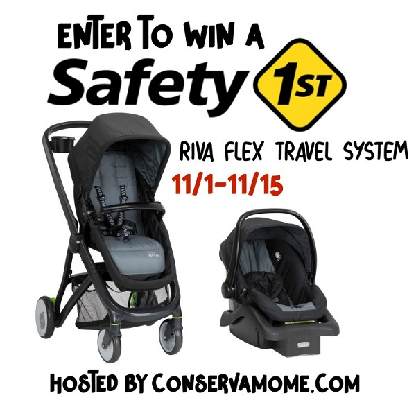 The FLEX stroller comes with the onBoard35™ FLX infant car seat. Learn more and enter to win the Safety 1st RIVA 6-in-1 Flex Modular Travel System giveaway.