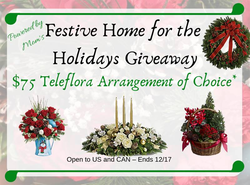Order a beautiful Holiday arrangement to spruce up your table centerpiece. Wow your guests this holiday, enter to win the $75 Teleflora Gift Code giveaway.