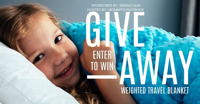 If you travel a lot and enjoy the comforts of home when away then you'll want to enter to win the SensaCalm Weighted Travel Blanket giveaway.