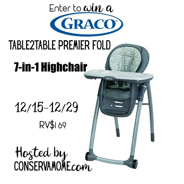 Have Graco products you own and love? Leave a review for a chance to win $500. Enter to win the Table2Table Premier Fold 7-in-1 Graco Highchair Giveaway!