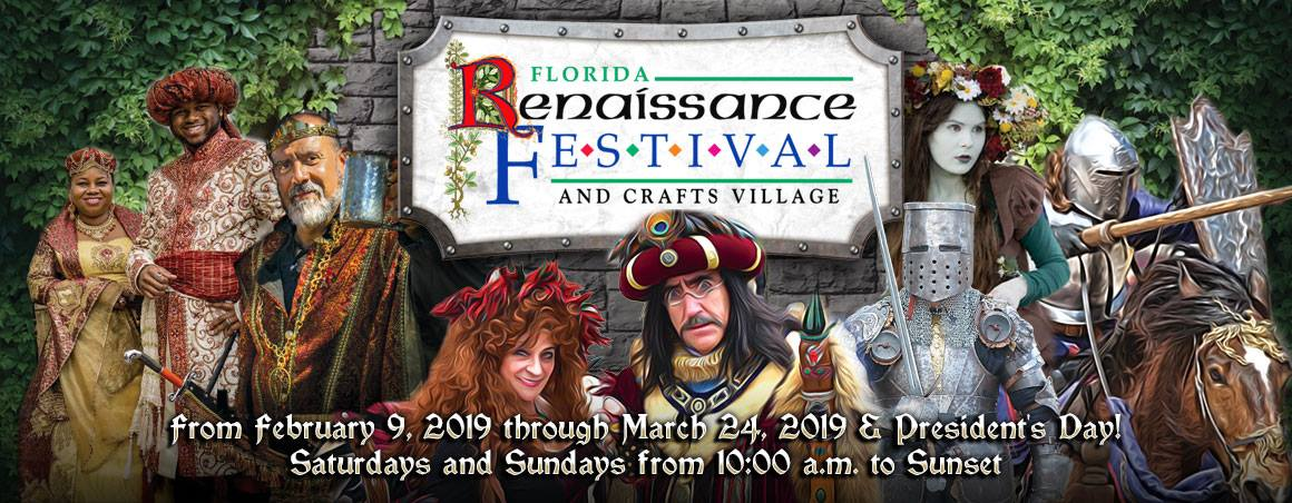 The 2019 Florida Renaissance Festival is back for it's 27th year. Medieval since the 16th Century, be prepared to be delighted and amused with new themed weekends, performers, activities, and more!