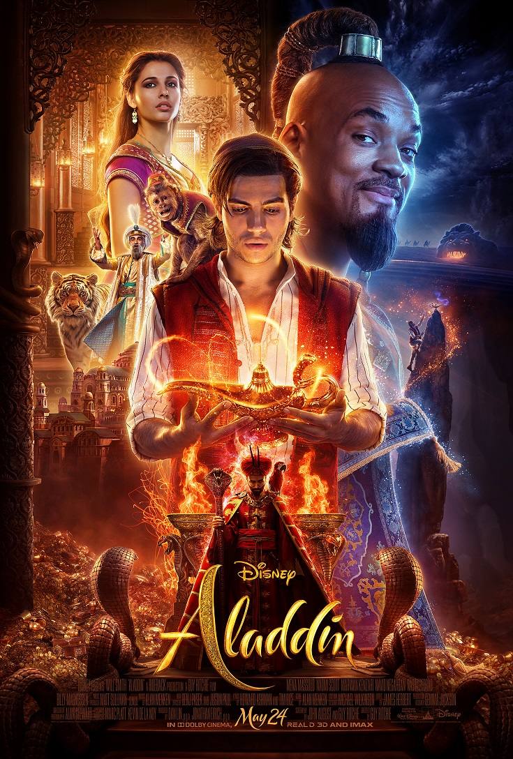 Disney's Aladdin official movie trailer was just released and it is epic! Will Smith stars as Genie with Aladdin flying into theaters nationwide May 24th.