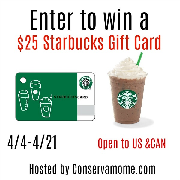 Enter to win the $25 Starbucks Gift Card giveaway and treat yourself to something hot, or cold, and delicious! How many lattes could you buy if you won?