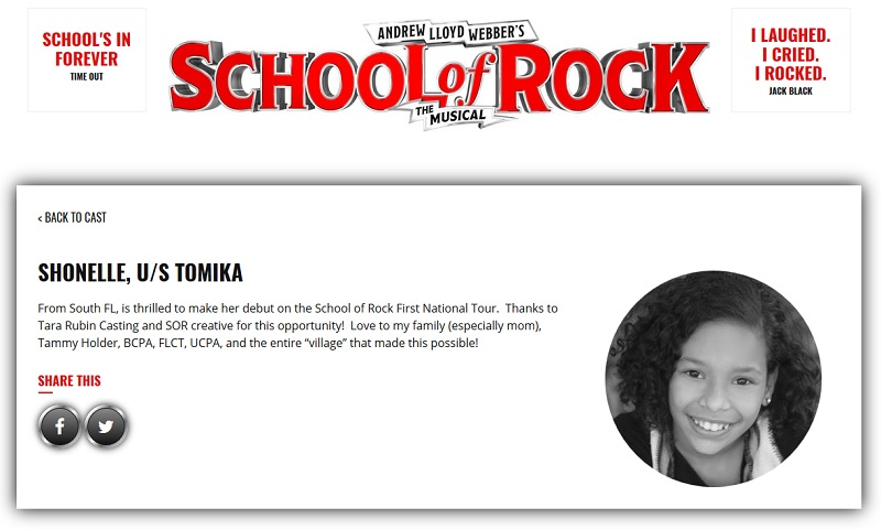 She's a South Florida native, 13, and rocking out in the national tour production School of Rock. Get to know her in my interview with Arianna Pereira.
