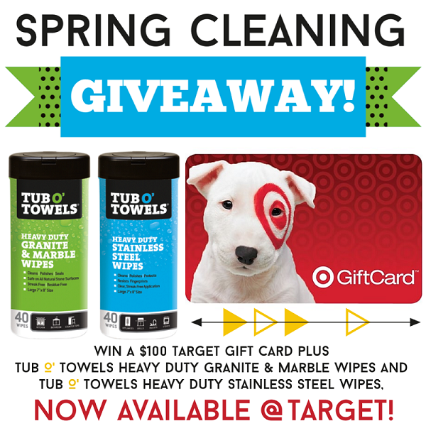 Get a head start on your spring cleaning with this $100 Target Gift Card & Tub O' Towels Prize Pack Giveaway!