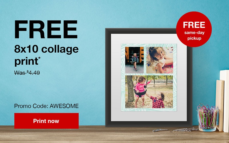 Get a free 8x10 photo collage print from CVS to display your summer or back to school memories! This deal won't last, so order your free 8x10 photo today.