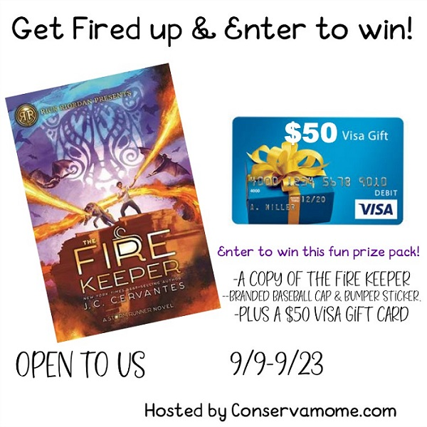 Enter to win a $50 Visa Gift Card giveaway and a fun reading prize pack.