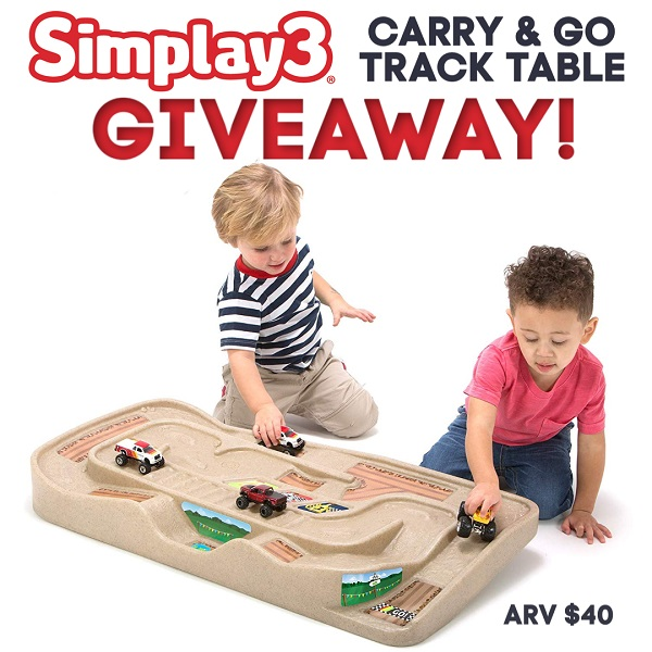 Perfect for kids of all ages, this nifty track goes wherever your little one goes. From inside to outside and room to room, grab the Simplay3 Carry and Go Track Table and play with it anywhere you want.
