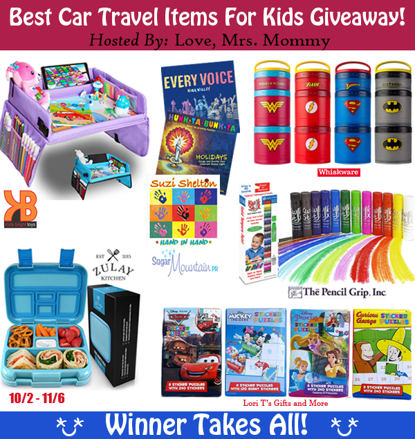 Hitting the road soon or traveling to a new destination with the kids? Check out the Best Car Travel Items for Kids giveaway and enter to win!