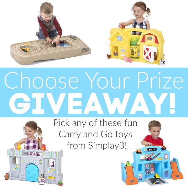 Perfect for kids of all ages, Simplay3 Carry and Go toys are so much fun! Enter to win the Simplay3 Carry and Go Toys pick your prize giveaway.