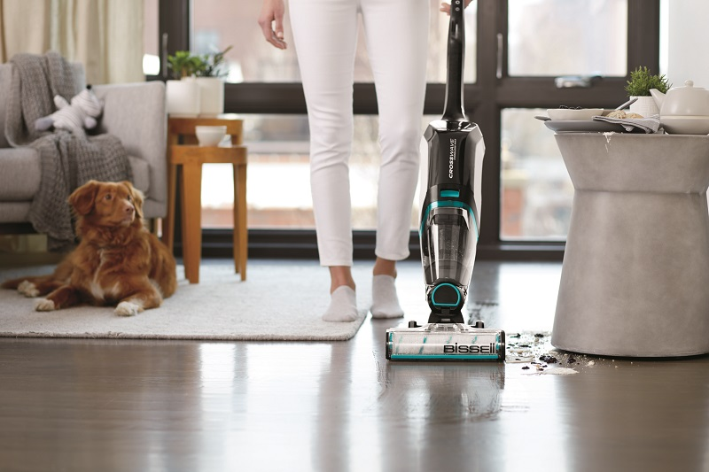 Pet owners rejoice! The new BISSELL CrossWave Cordless Max is THE vacuum for pet owners everywhere - it vacuums and washes your floors at the same time.