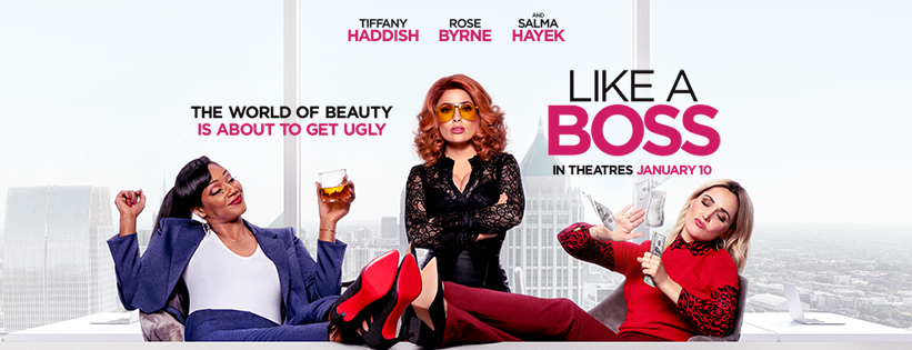 Enjoy a Mama's Night Out with these free Like A Boss advance screening tickets! This comedy starring Tiffany Haddish and Salma Hayek is a must see. #LikeABoss