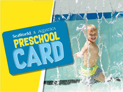 Free admission for children ages 5 and under with the 2020 SeaWorld Preschool Card. Valid for Orlando SeaWorld and Aquatica locations throughout 2020.