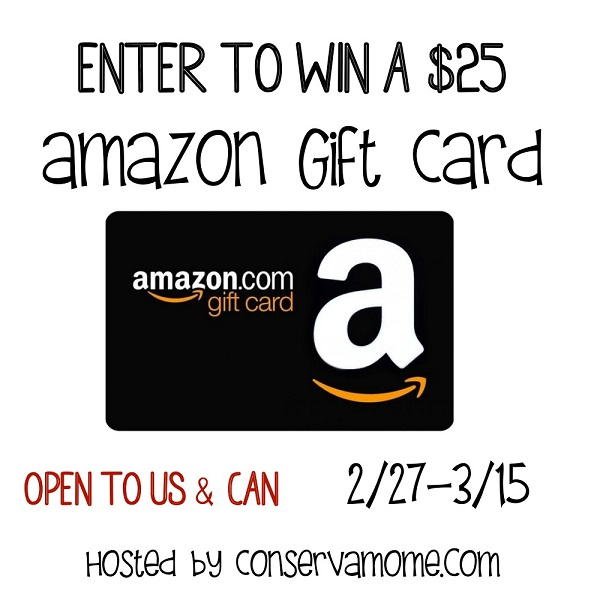 Enter to win the $25 Amazon Gift Card giveaway and let your fingers do the shopping for you! What would you buy with a $25 Amazon Gift Card?