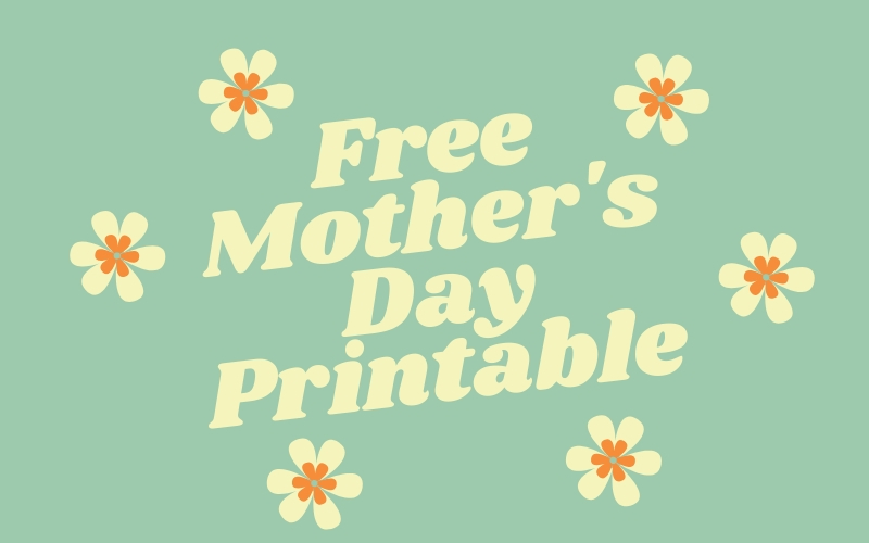 With school out it's up to us to ensure we get some fun Mother's Day prints from our little ones. Download this free Mother's Day Printable!