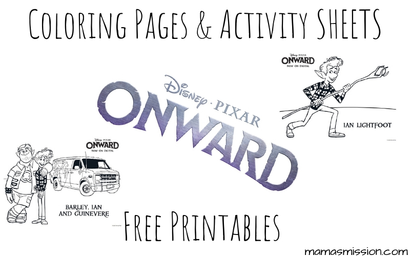 Spend this weekend unwinding with these free printable Onward coloring pages and activity sheets, and click play to watch Onward with your family.