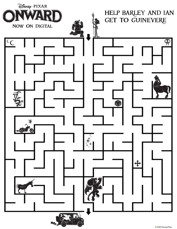 Onward Maze Onward Activity Sheets – Free Printables
