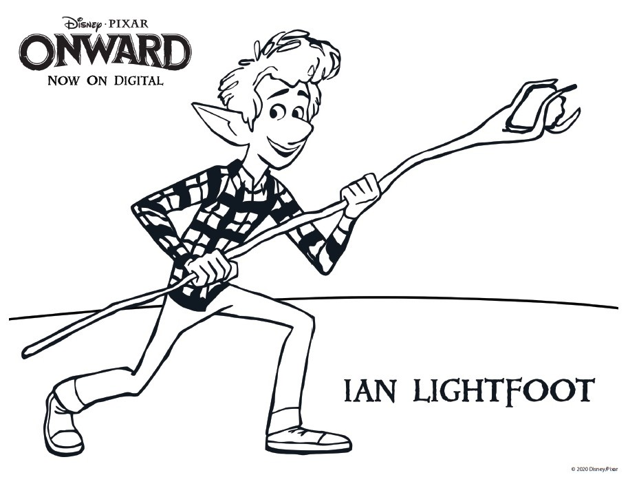 Ian Lightfoot Coloring Page Onward Coloring Pages & Activity Sheets – Free Printables