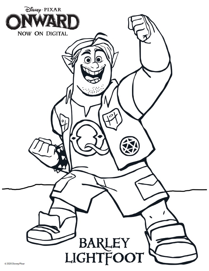 Barley Lightfoot Coloring Page Onward Coloring Pages & Activity Sheets – Free Printables