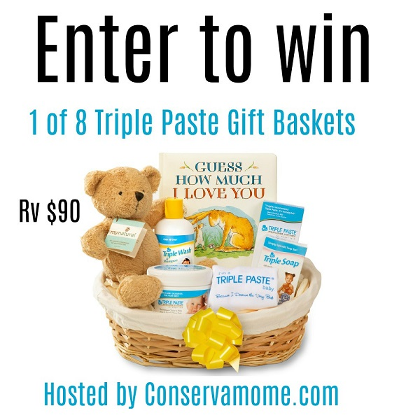 Nothing worse than an irritating red booty to make you AND your little one cry. Those cries will keep everyone up. Enter to win Triple Paste Gift Baskets!