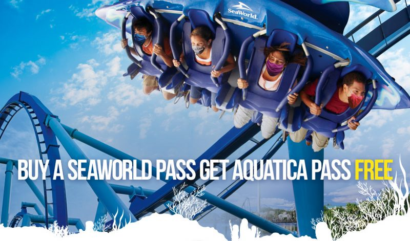 Buy a SeaWorld annual pass and receive a free Aquatica annual pass through February 21, 2021.